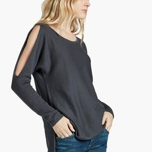 Lucky Brand Dressy Pullover Slit Sleeve Sweater
